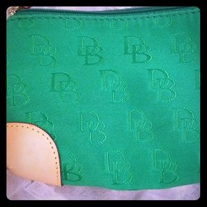 Dooney & And Bourke Green Jacquard Cosmetic / Make